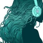 DJ girl — Stock Vector #37518731