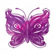 Stock Vector: Amazing watercolor butterfly