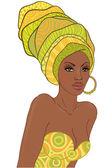 African woman with earring — Stock Vector