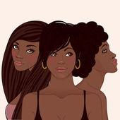 Młody african american kobieta — Wektor stockowy