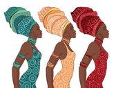African American woman in turban — Stock Vector