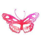 акварель удивительная бабочка — Cтоковый вектор