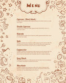 Restaurant menu doodle background — Stock Vector