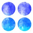Watercolor hand painted circle shape — Stock vektor