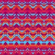 Ethnic zigzag pattern in retro colors — Stock Vector