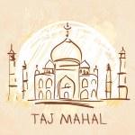 Taj Mahal, Agra, India — Stock Vector #37521685