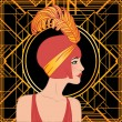 Stock Vector: Flapper girl