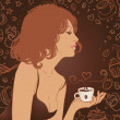 Stock Vector: Coffee Girl