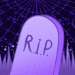 Halloween tombstone — Vector de stock #37525855