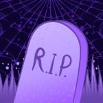 Halloween tombstone — Stock Vector