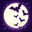 Halloween cute bat flying — Stock Vector