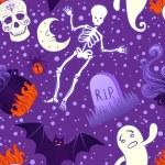 Halloween cute seamless pattern — Stock Vector