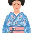 Beautiful japanese woman — Stock Vector
