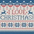 I love Christmas — Stock Vector #37526577