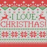 I love Christmas — Stock Vector