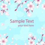 Abstract romantic sakura branch — Stock Vector #37529125