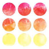 Watercolor hand painted circle shape — Stock Vector
