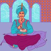 Arab men in oriental costume — Stockvector