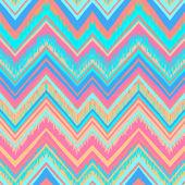 Ethnic zigzag pattern in retro colors — Stock Vector