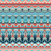 Ethnic striped seamless fabric pattern — Stock Vector