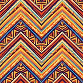 Etnische zigzag patroon van retro kleuren — Stockvector
