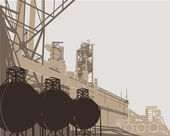 Industrial Buildings — Cтоковый вектор