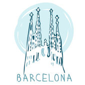 La Sagrada Familia, Barcelona, Spain. — Stock Vector