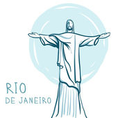Christ the Redeemer, Brazil — Stock Vector