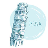 The Leaning Tower, Pisa, Italy, Europe — Stock Vector