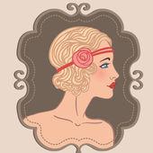 Flapper girl — Stock Vector