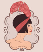 Flapper girl — Stock Vector