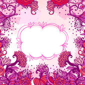 Stylish floral Valentine's day background — Stock Vector