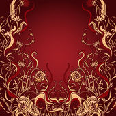 Vintage background ornate baroque pattern — Stock Vector