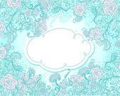 винтаж стиль фона с цветами — Cтоковый вектор