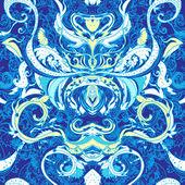 Богато цветочный Пейсли фон — Cтоковый вектор
