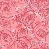 Pink wedding floral grunge pattern — Stock Vector