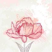 Grunge vintage floral achtergrond — Stockvector