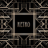 Vintage background. 1920s style — Stock Vector