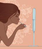 Afro-Amerikan kız — Stok Vektör