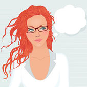 Pretty student girl — Stock Vector
