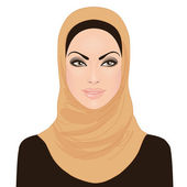 Muslim beautiful girl in hijab — Stockvektor