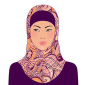 Muslim beautiful girl — Stock Vector