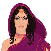 Beautiful indian woman — Stock Vector