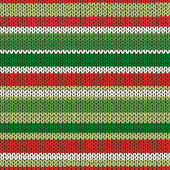 Seamless Knitted Striped Pattern — Stock Vector