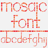 Glass mosaic latin alphabet set — Stock Vector