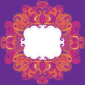 Ornamental floral paisley pattern. — Stock Vector
