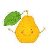 Набор иконок смешные фрукты: груши — Cтоковый вектор