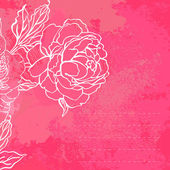 Beautiful peony bouquet design — Vector de stock