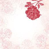 Beautiful peony bouquet design — Stockvektor