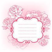 Schöne pfingstrose bouquet design — Stockvektor